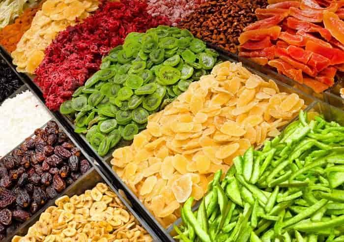 میزان مصرف میوه خشک