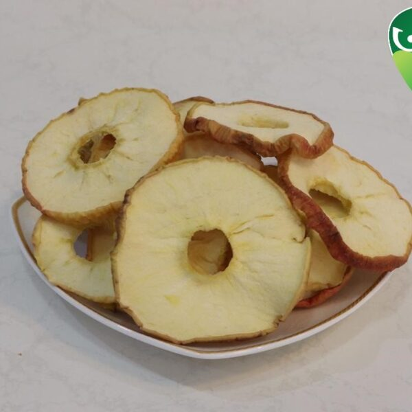 Dried yellow apples with skin